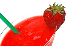 Strawberry Daiquiri with Garnish Closeup Stock Image