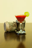 Strawberry Daiquiri with lime Stock Image