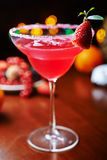 Strawberry daiquiri on a table in restaurant. soft Royalty Free Stock Images