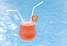 Strawberry Daiquiri for Two Royalty Free Stock Photography