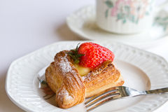 Strawberry Danish Stock Photos