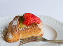 Strawberry Danish Royalty Free Stock Image