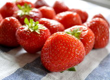 Strawberry. Delicious and nutrition-rich red colored strawberries are among the most popular berries Stock Photo