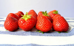 Strawberry. Delicious and nutrition-rich red colored strawberries are among the most popular berries Royalty Free Stock Photos