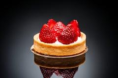 strawberry desert on dark background Stock Image