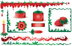 Strawberry design elements Stock Photography