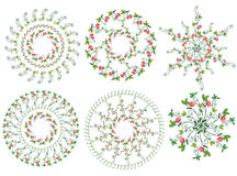 Strawberry design elements circles Stock Photos