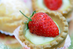 Strawberry dessert. Close-up view of a strawberry dessert Stock Images