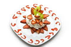 Strawberry dessert Stock Photography