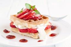 Strawberry dessert Stock Photos