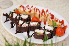 Strawberry dessert Stock Images