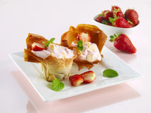 Strawberry dessert Royalty Free Stock Photography