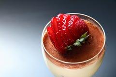 Strawberry dessert. A cup of strawberry dessert Stock Photo