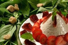 Strawberry dessert Royalty Free Stock Photography