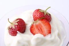 Strawberry dessert. Fresh strawberry dessert in a glass Royalty Free Stock Photo
