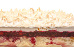 Strawberry dessert. With beaten egg whites Royalty Free Stock Images