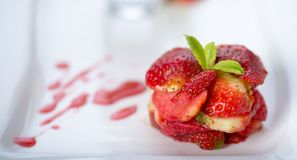 Strawberry dessert Royalty Free Stock Images