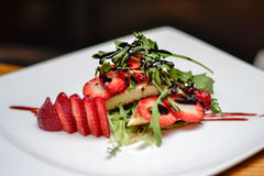 Strawberry dessert. Royalty Free Stock Photos