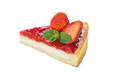 Strawberry dessert isolated on white Royalty Free Stock Image