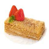 Strawberry dessert isolated on white Stock Photos