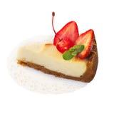 Strawberry dessert isolated on white Royalty Free Stock Photo