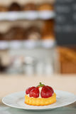Strawberry Dessert In Plate Stock Photography