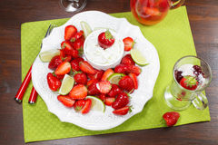 Strawberry dessert Stock Photo