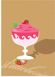 Strawberry dessert. Still life with berries and a strawberry dessert Stock Image