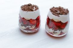 Free Strawberry Dessert With Chocolate. Stock Photos - 121925133