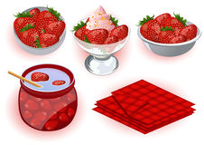 Strawberry desserts Stock Photos