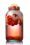Strawberry detox water Royalty Free Stock Image