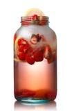 Strawberry detox water Royalty Free Stock Image
