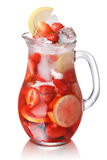 Strawberry detox water Stock Images