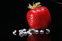 Strawberry and Diamonds Royalty Free Stock Photos