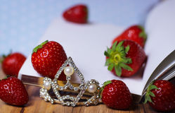 strawberry diary fresh fruit  princess Royalty Free Stock Photography