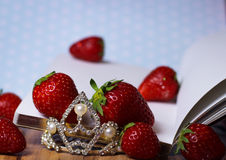 strawberry diary fresh fruit  princess Stock Photos