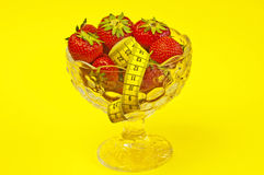 Strawberry diet Royalty Free Stock Image