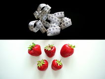 Strawberry diet Royalty Free Stock Images