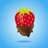 Strawberry dipped in chocolate Royalty Free Stock Photography