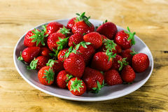 Strawberry in a dish Stock Images