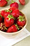 Strawberry dish royalty free stock photography
