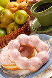 Strawberry donut Royalty Free Stock Photography