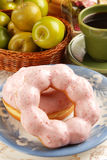 Strawberry donut Royalty Free Stock Image