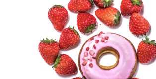 strawberry donut Stock Photo