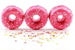 Strawberry donuts Stock Photo