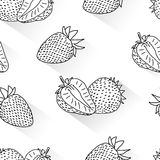 Strawberry doodle seamless Royalty Free Stock Photos