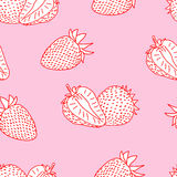 Strawberry doodle seamless Royalty Free Stock Photography