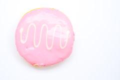 Strawberry doughnut 2. An image of a deliciously looking strawberry doughnut Royalty Free Stock Photography