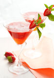 Strawberry drink Stock Photography