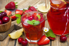 Strawberry drink Stock Photos